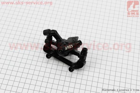 Тормозной суппорт задний (адаптер F180/R160мм), черный MDA11 для велосипеда
