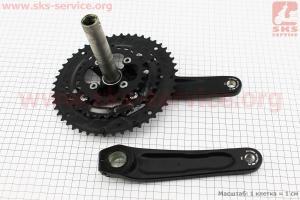 """Шатуны """"Hollowtech II"""" 175мм, 48.36.26T МТВ, интегрированная ось 24мм, алюминиевые, черные ALIVIO FC-M4060 для велосипеда"""