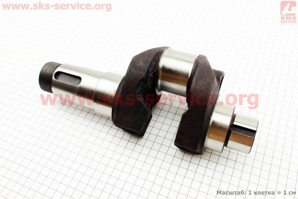 Коленвал голый под болт балансира М12x1,5 R195NM для мотоблока