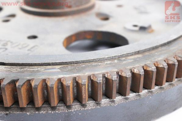 УЦЕНКА (отломан фиксатор шкива), Маховик+венец Z=118 R190N/195NM для мотоблока