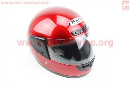 Шлем закрытый HF-101 S- КРАСНЫЙ глянец