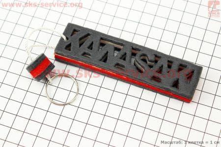 Брелок KAWASAKI, красный