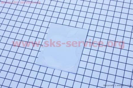 Наклейка Apple белая 7x5,5, HQ647