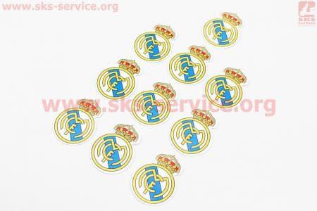 Наклейка FC Real Madrid 10шт 4,5х4,5, 5650