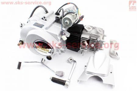 Двигатель мопедный в сборе 110куб (Delta) - механика