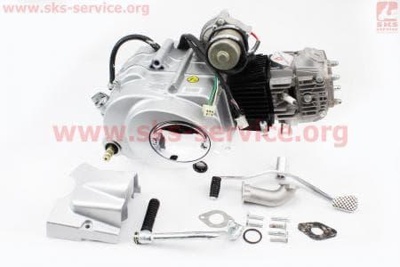 Двигатель мопедный в сборе 110куб (Active) - автомат