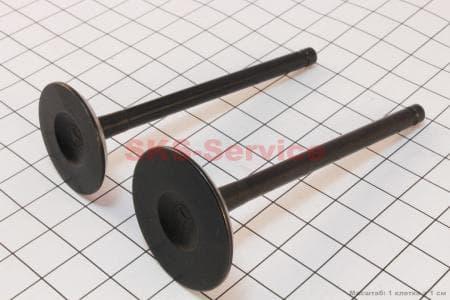 Клапана выпускной (30,5*78*5)+ впускной (26*78*5) к-кт 2шт 250сс для китайских скутеров на двигатель 250сс 4-т водяное охлаждение