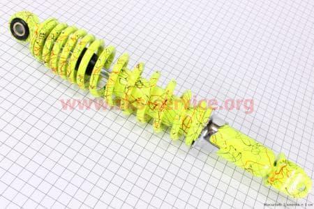 Амортизатор задний 320мм (регулируемый, цвет - лимонный с паутиной) для скутеров Race 1, 2, 3 (Viper), Velon(Defiant) купить в Украине