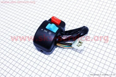 Блок кнопок на руле правый под дисковый тормоз для скутеров Wind (Viper) купить в Украине