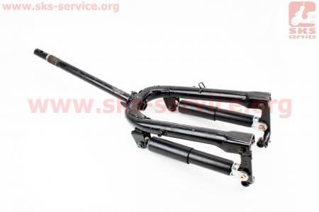 Вилка передняя рычажная с амортизаторами 250мм в сборе для скутеров Wind (Viper) купить в Украине
